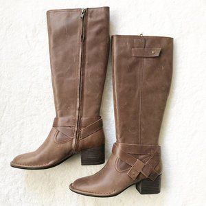 Ugg Bandara Brown Leather Tall Riding Boots